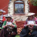 Knitting in Pitumarca, Peru: 2015