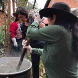 Tending the dye pots: 2018