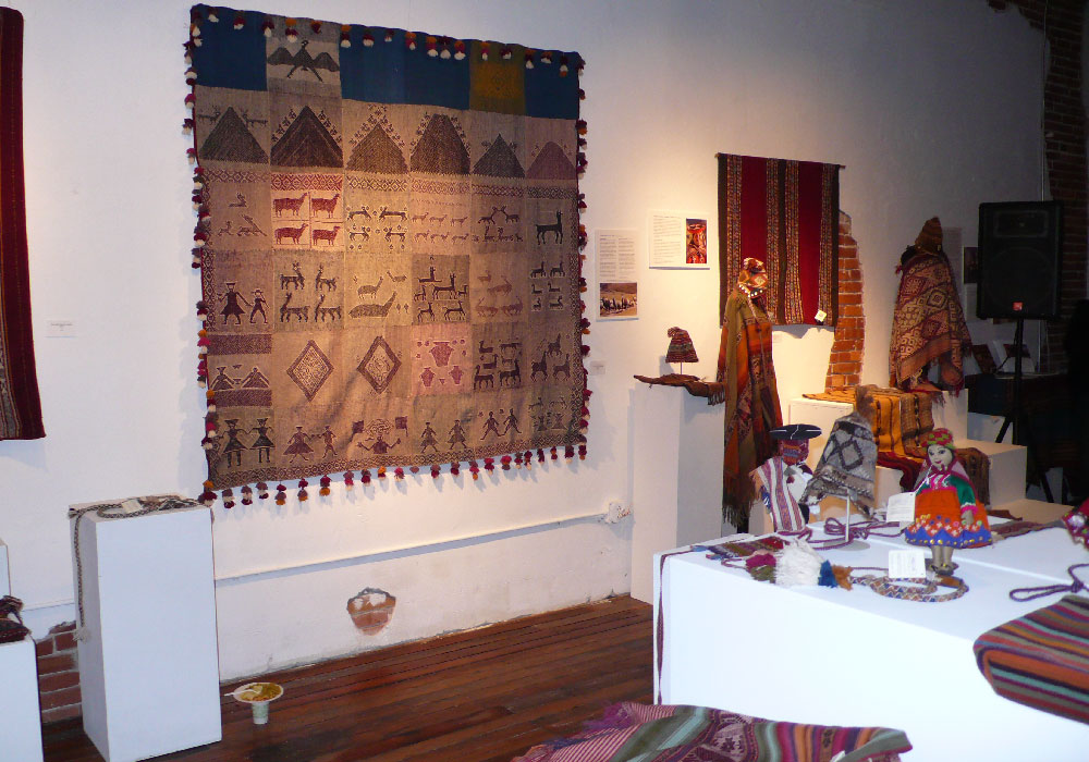 """Weaving Lives: Transforming Textile Traditions in the Peruvian Highlands"" at the Mattie Rhodes Art Center."